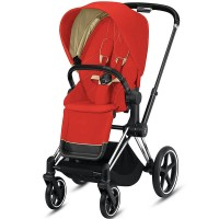 Коляска Cybex Priam Autumn Gold шасі Chrome Black