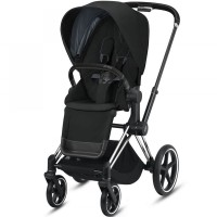 Коляска Cybex Priam Deep Black шасі Chrome Black