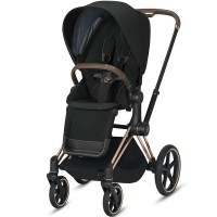 Коляска Cybex Priam Deep Black шасі Rose Gold