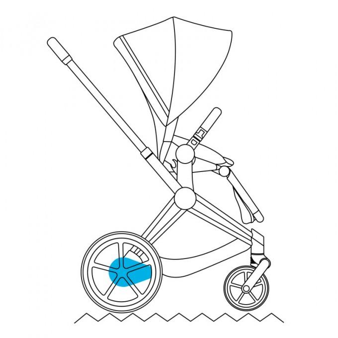 Коляска Cybex e-Priam 2 в 1 Nautical Blue шасі Rosegold