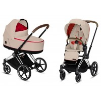Коляска Cybex Priam 2 в 1 Ferrari Silver Grey шасі Chrome Brown