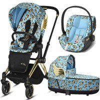 Коляска Cybex Priam 3 в 1 Jeremy Scott Blue автокрісло Cloud Z i-Size