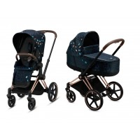 Коляска Cybex Priam 2 в 1 Jewels of Nature шасі Rosegold