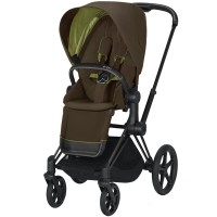 Коляска Cybex Priam Khaki Green шасі Matt Black