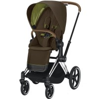 Коляска Cybex Priam Khaki Green шасі Chrome Brown