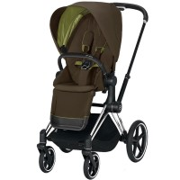 Коляска Cybex Priam Khaki Green шасі Chrome Black