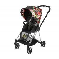 Прогулянкова коляска Cybex Mios Spring Blossom Dark шасі Chrome Black