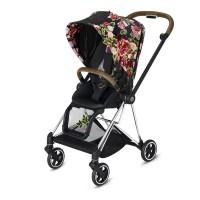 Прогулянкова коляска Cybex Mios Spring Blossom Dark шасі Chrome Brown