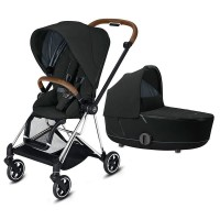 Коляска Cybex Mios 2 в 1 Deep Black шасі Chrome Brown