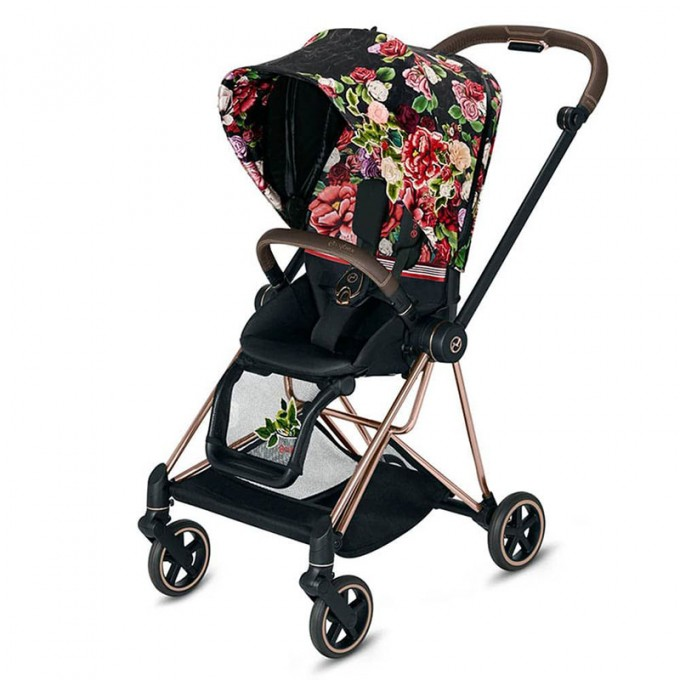 Прогулянкова коляска Cybex Mios Spring Blossom Dark шасі Rosegold