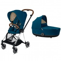 Коляска Cybex Mios 2 в 1 Mountain Blue шасі Chrome Brown
