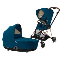 Коляска Cybex Mios 2 в 1 Mountain Blue шасі Rosegold