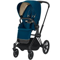 Коляска Cybex Priam Mountain Blue шасі Chrome Black