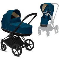 Коляска Cybex e-Priam 2 в 1 Mountain Blue шасі Matt Black