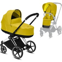 Коляска Cybex e-Priam 2 в 1 Mustard Yellow шасі Chrome Black