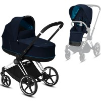 Коляска Cybex e-Priam 2 в 1 Nautical Blue шасі Chrome Black