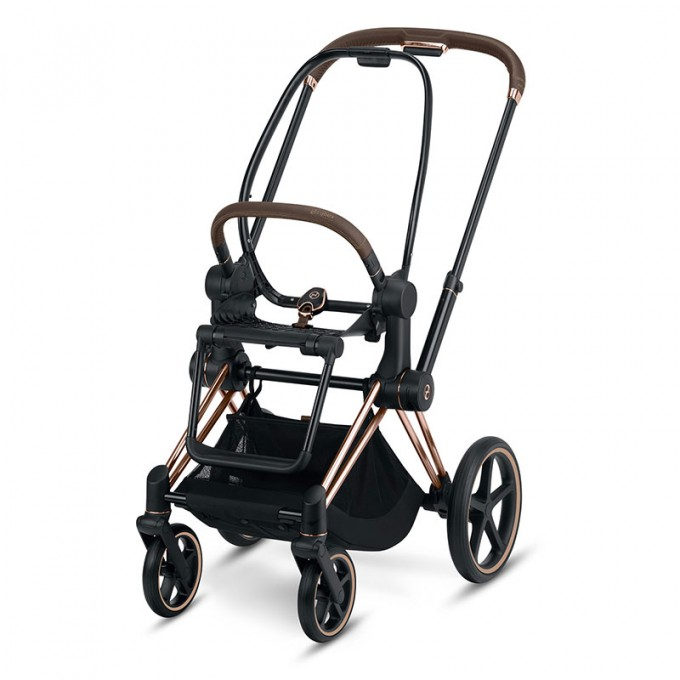 Коляска Cybex Priam Khaki Green шасі Rose Gold