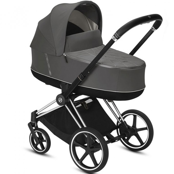 Коляска Cybex Priam 2 в 1 Soho Grey шасі Chrome Black